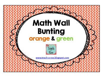 """Math Wall"" Bunting in Orange and Green"
