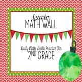 Calendar Math Wall for December (2nd Grade)