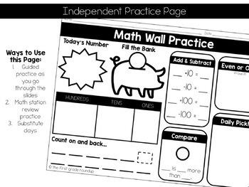 Calendar Math Wall 5: 2nd Grade