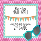 Calendar Math Wall for May and June (2nd Grade)
