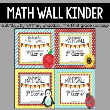 Calendar Math: Kindergarten, Year Long BUNDLE