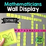 Math Classroom Wall Display