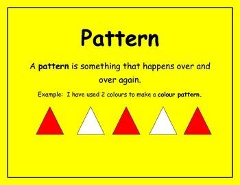Math Wall Patterning posters