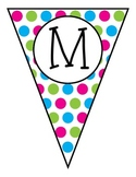 Math Wall Pennants-Polka Dots
