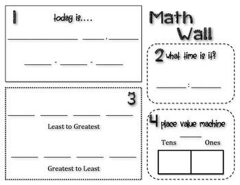 Math Wall Student Sheet