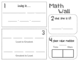 Math Wall Student Sheet