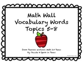Math Wall Vocabulary enVision 2.0 Texas Grade 2 Topics 5-8