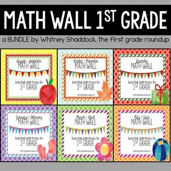 Calendar Math: 1st Grade Year Long BUNDLE