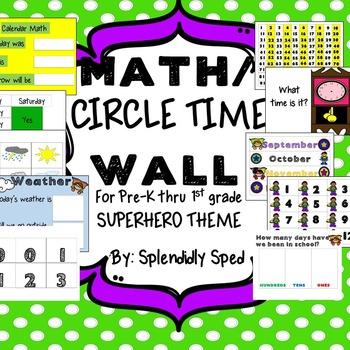 Math Wall/Circle Time Wall Pre-K thru 1st grade
