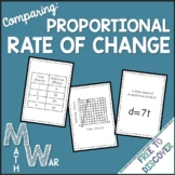 Rate of Change Card Game (Proportional Relationships)
