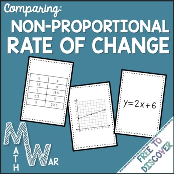 Rate of Change Card Game (Non-Proportional)