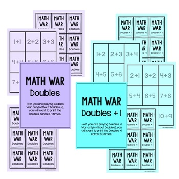 Math War Game: Doubles and Doubles Plus One Facts