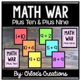 Math War Game: Plus Ten and Plus Nine Facts