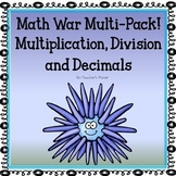Multiplication, Division and Decimal Games - Math War Bundle!