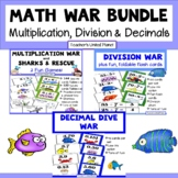 Multiplication, Division and Decimal Games - Math War Bundle!