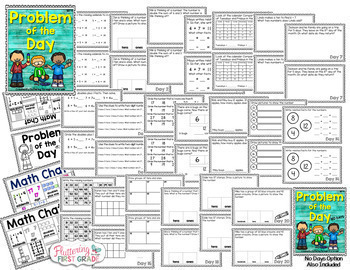 Math Warm Up Activity Booklets: Problem of the Day COMPLETE BUNDLE