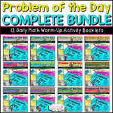 Math Warm Up Activity Booklets: Problem of the Day COMPLET