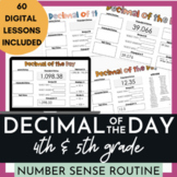 Math Warm Up Decimal of the Day
