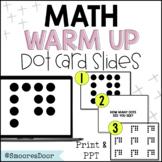 CGI Math Warm-Up: Dot Cards (Subitizing) I Google Slides