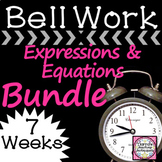 Math Warm Up Expressions and Equations Bundle