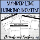 Fractions and Decimal Math Warm Up Number Line Thinking Activity