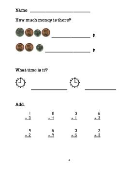 Math Warm-Up/Homework for Basic Skills