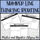 Integers Math Warm Up Number Line Critical Thinking Activity