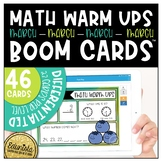 Math Warm Up March Boom Cards™ Digital Task Cards - Differentiated for 2 levels