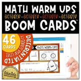 Math Warm Up October Boom Cards™ Digital Task Cards - Diff