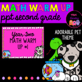 Second Grade Math Warm Up