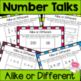 Math Warm Up Slides- Alike or Different
