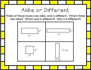 Number Talks- Math Warm Up Slides- Alike or Different