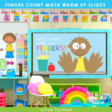 Math Warm Up Slides - Finger Counting to 10