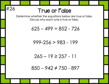 Math Daily Warm-Up Slides- True or False