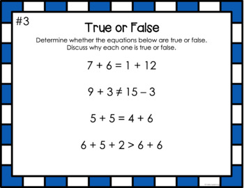 Number Talks- 30 Math Warm Ups- True or False