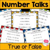 Number Talks True or False Equations