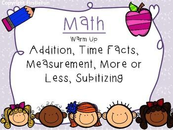 Math Warm Up in Recite Recall Apply 1 - (Version 2 Midway Through Year)