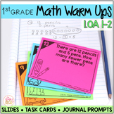 Math Task Cards • Math Warm Ups - 1.OA.A.1 and 1.OA.A.2