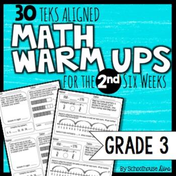 3rd Grade Math Warm Ups: 2nd Six Weeks (TEKS Based)