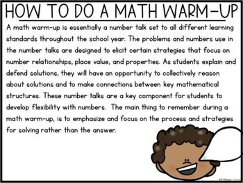 Digital Math Warm-Ups First Grade