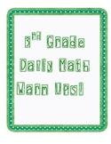 Math Warm Ups 3rd Grade