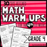 4th Grade Math Warm Ups - 4th Six Weeks (TEKS based)