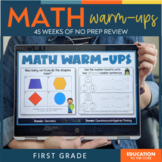 No Prep Math Warm-Ups | Math Spiral Review | Morning Work