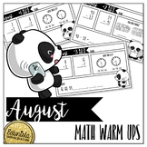 Math Warm Ups August - Differentiated for 2 levels!