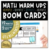 Math Warm Ups Boom Cards™ Growing Bundle - Differentiated