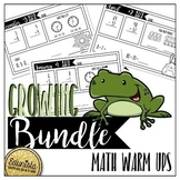 Math Warm Ups Bundle - Differentiated for 2 levels!