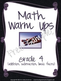 Math Warm Ups Grade 4 Freebie!