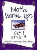 Math Warm Ups Grade 4:  Set 1--Common Core Aligned!