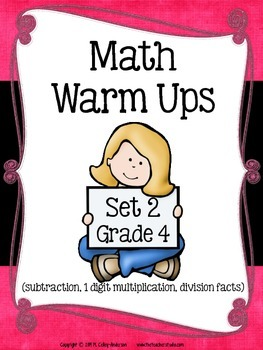 Math Warm Ups Grade 4:  Set 2--Common Core Aligned!