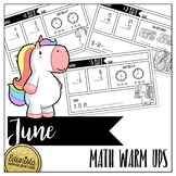 Math Warm Ups June - Differentiated for 2 levels!